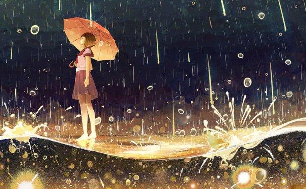 动漫二次元雨中背景/打伞少女图片图包合集_持续更新中