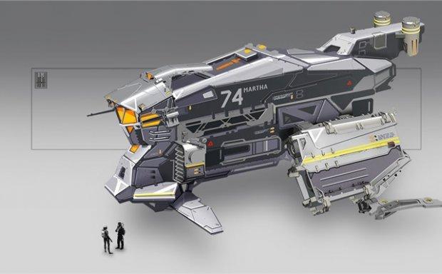 德国概念设计师科幻飞行器宇宙飞船外观内部设计参考CG 图片素材