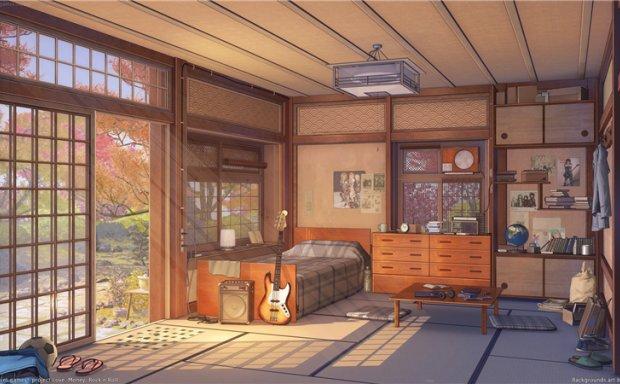 [1.13G]动漫日系插画房间室内场景背景原画CG线稿壁纸图片素材 美术资料_持续更新