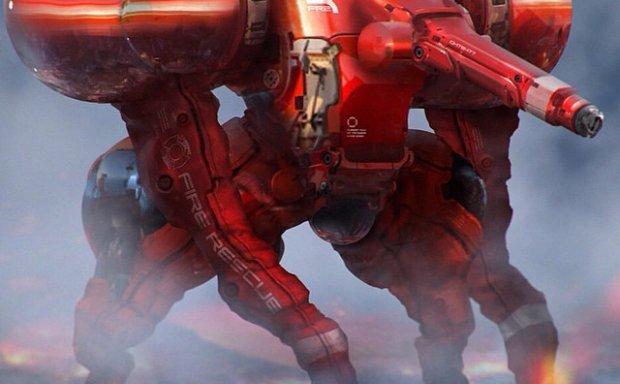 画师Brian Sum人形机甲机械机器人概念设计原画插画立绘线稿图片