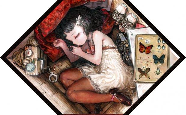 动漫插画箱子箱中少女主题图集原画高清壁纸CG图片素材 美术资料
