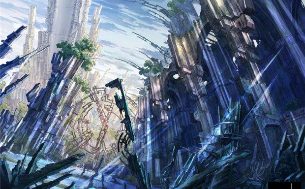 日本画师Kanehira日系欧洲城市街道场景背景壁纸图片素材美术资料