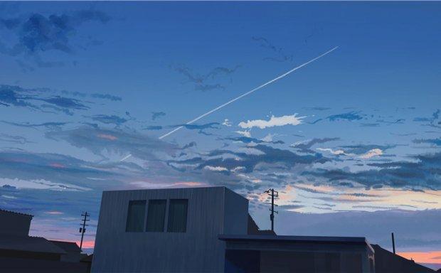 日本画师banishment动漫唯美意境场景风景天空原画壁纸 图片素材
