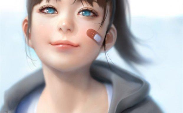 动漫二次元插画创可贴角色少女图集原画插画壁纸图片素材美术资料