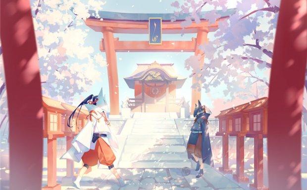 日本画师やまかわ晶莹剔透感水晶感原画图集插画壁纸作品图片素材