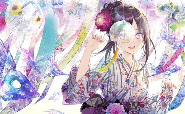 日本画师きのこ姫华丽风图集原画插画CG壁纸图片素材美术绘画资料