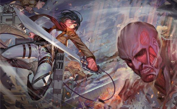 动漫进击的巨人角色三笠同人图集原画插画壁纸图片素材 美术资料