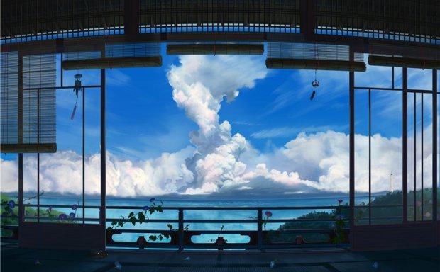 动漫日系插画各类天空意境背景元素场景图集原画插画壁纸图片素材
