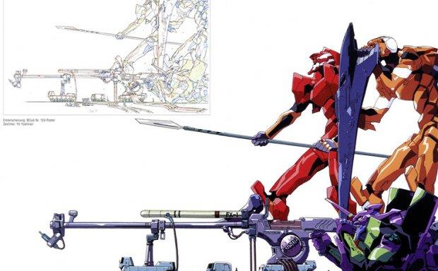 动漫EVA原画美术资料设计集机体概念设定集画集线稿手稿图片素材