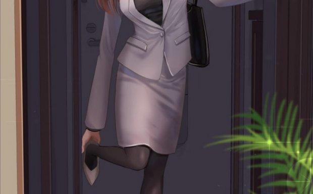 动漫日系OL装职业裙装正装办公室女性少女原画插画CG壁纸图片素材