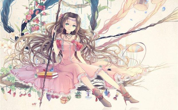 艾瑞丝(最终幻想7)壁纸图包原画插画素材P站同人图合集