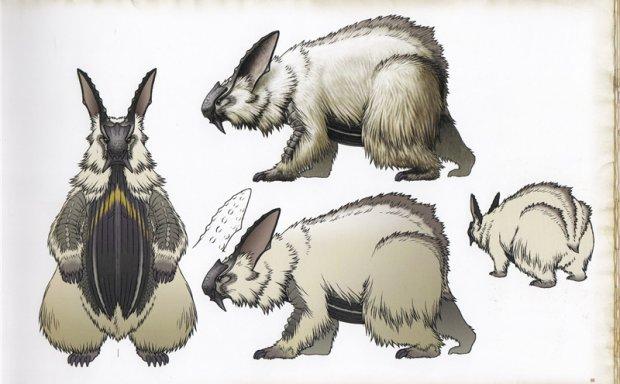 游戏怪物猎人相关设定线稿图集