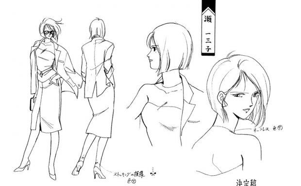 动漫吸血姫美夕官方插画集动画线稿设定集画集
