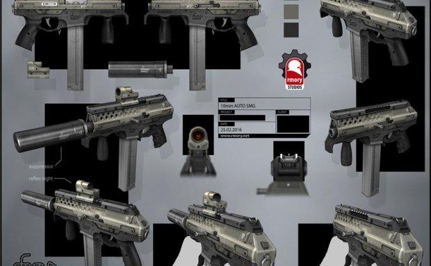 德国设计师kristhaler游戏枪械武器设计图例原画插画美术图片素材