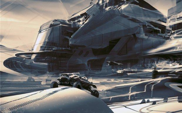 美国设计师sparth原画插画作品合集 科幻机械宏达场景