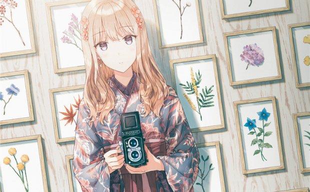 二次元插画茶色褐色头发少女图集壁纸