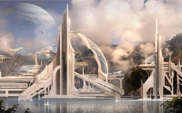 加拿大设计师JULIAN CALLE写实科幻大场面场景概念CG