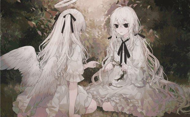 日系动漫插画天使少女主题图集原画插画壁纸画集