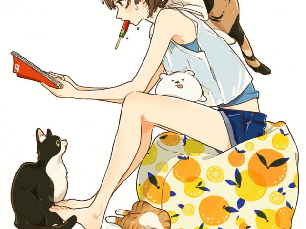 P站画师けーしん清新活泼风格少女图集画册作品集
