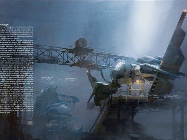 游戏星战前夜场景道具物品舰船设定集画集