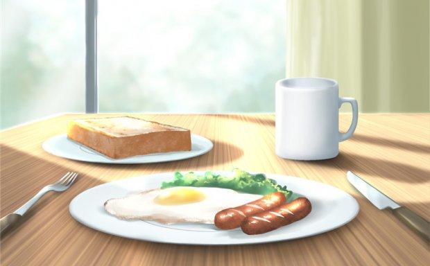 动漫插画早餐的描绘图例插画图集美术绘画临摹素材
