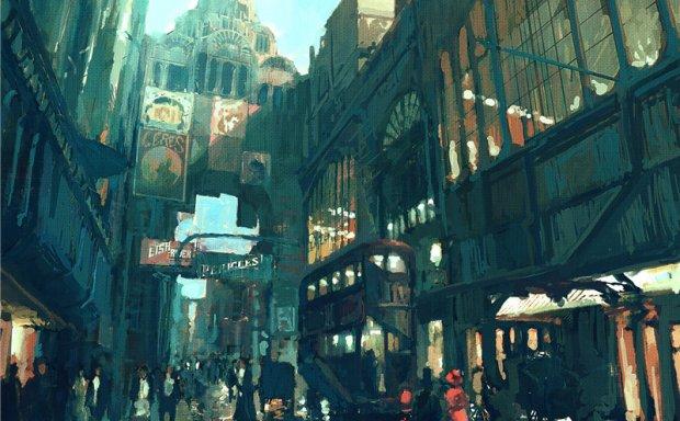 artstation画师Pete Amachree城市场景概念CG原画插画壁纸素材