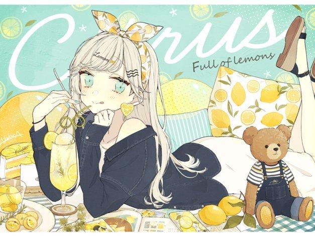 日系插画柠檬元素的描绘图集动漫素材